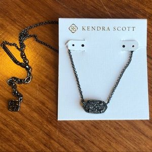 Kendra Scott black drusy pendant Elisa necklace